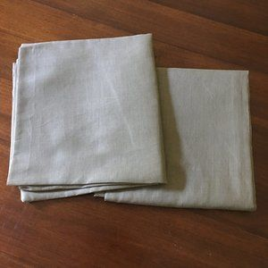 Pottery Barn 100% Cotton Curtain Panels Green